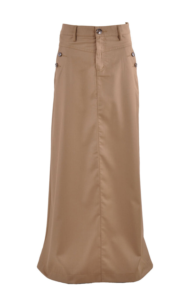 This Long khaki maternity skirt