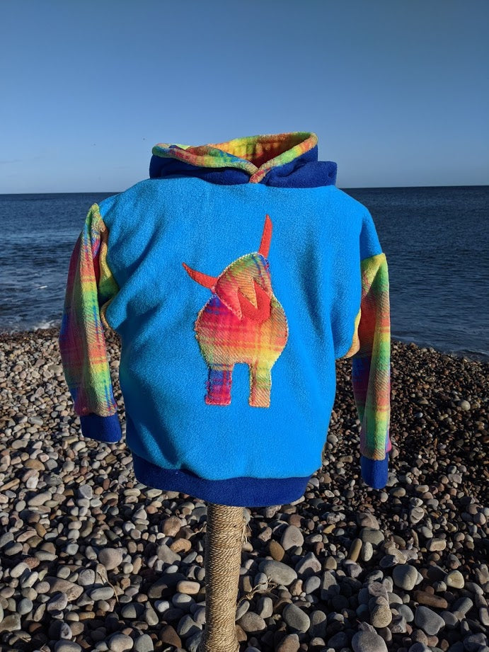 Hooded Top bright coo blue