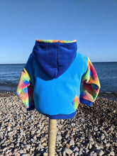 Load image into Gallery viewer, Hooded Top bright coo blue