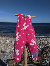 Load image into Gallery viewer, Dungaree pink unicorn