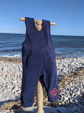 Load image into Gallery viewer, Dungaree navy blue royal stewart