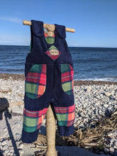 Load image into Gallery viewer, Dungaree blue with Bucannan tartan