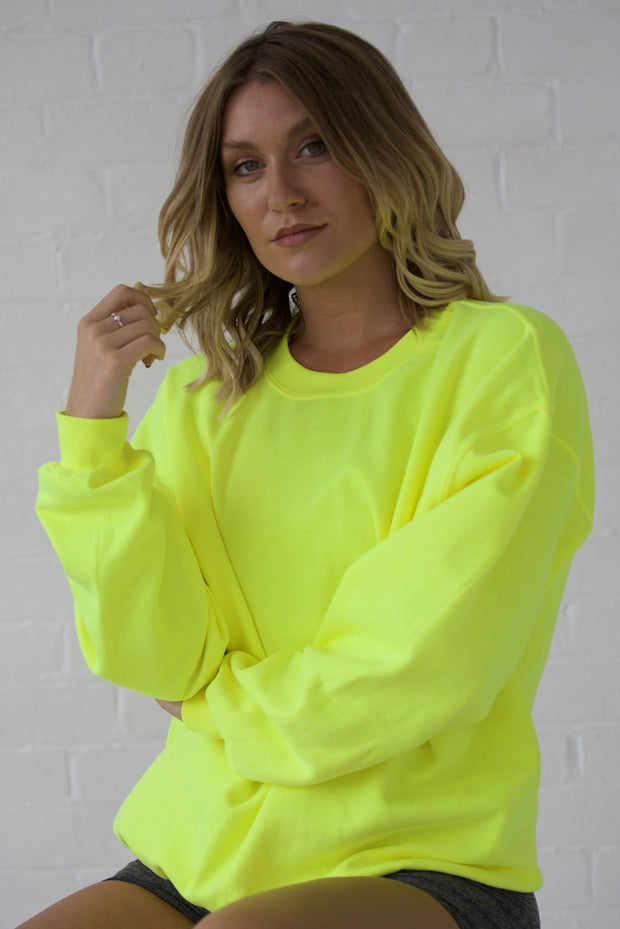 Neon yellow oversized sweatshirt