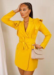 Always glowing blazer dress