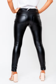 Hugz black leather jeans