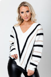 Stripe knit Jumper