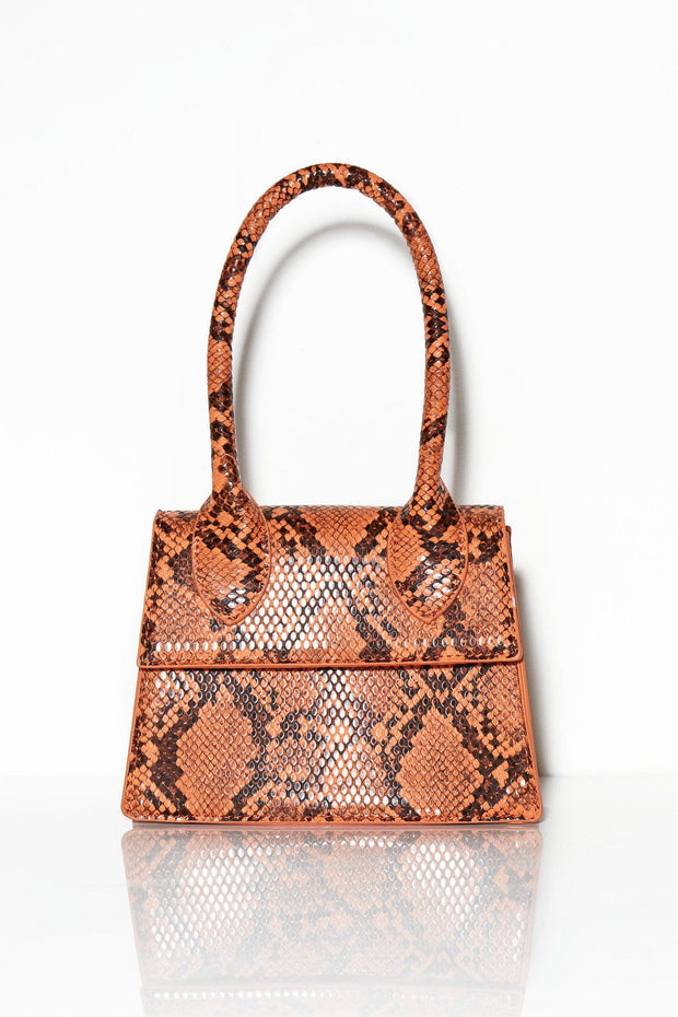 Oh, I see you snake print bag rust