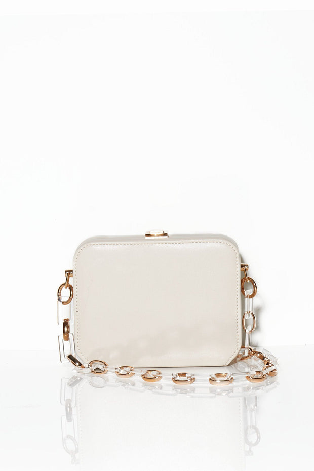 Wildest dreams clutch white