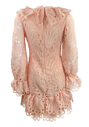 Light pink crochet lace dress
