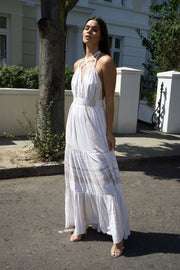 St.Tropez halter maxi dress