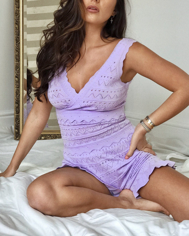 Lilac crochet co-ord