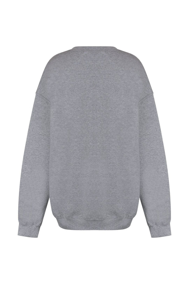 Grey embroidered sweatshirt
