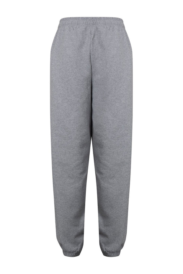 Grey embroidered Joggers