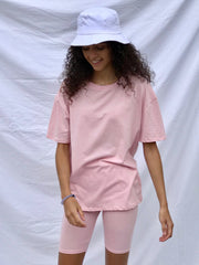 Light pink cycle short set