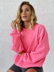 Hot pink oversized sweatshirt