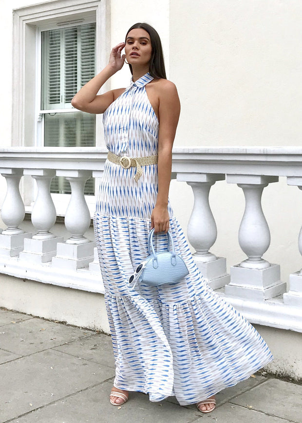 Chelsea shirt collared maxi dress