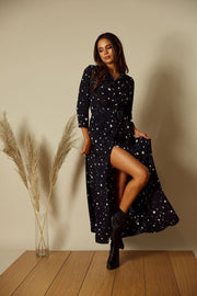 Black star shirt dress