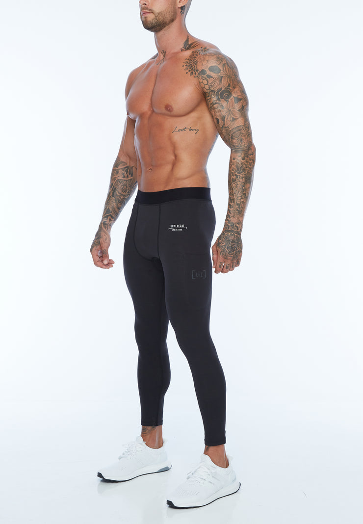 UNDERCOAT Mens Seamless Black Leggings