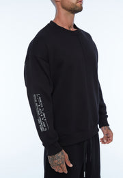 UNDERCOAT Mens Black Sweatshirt