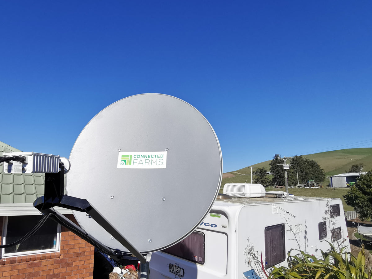 Connected Farms offer high speed satellite internet with plans starting at $189 per month* for 40Mbps unlimited data with no lock in contract. Higher speed plans up to over 100mbps also available. Connectivity : Fence to Fence  *Installation charges apply