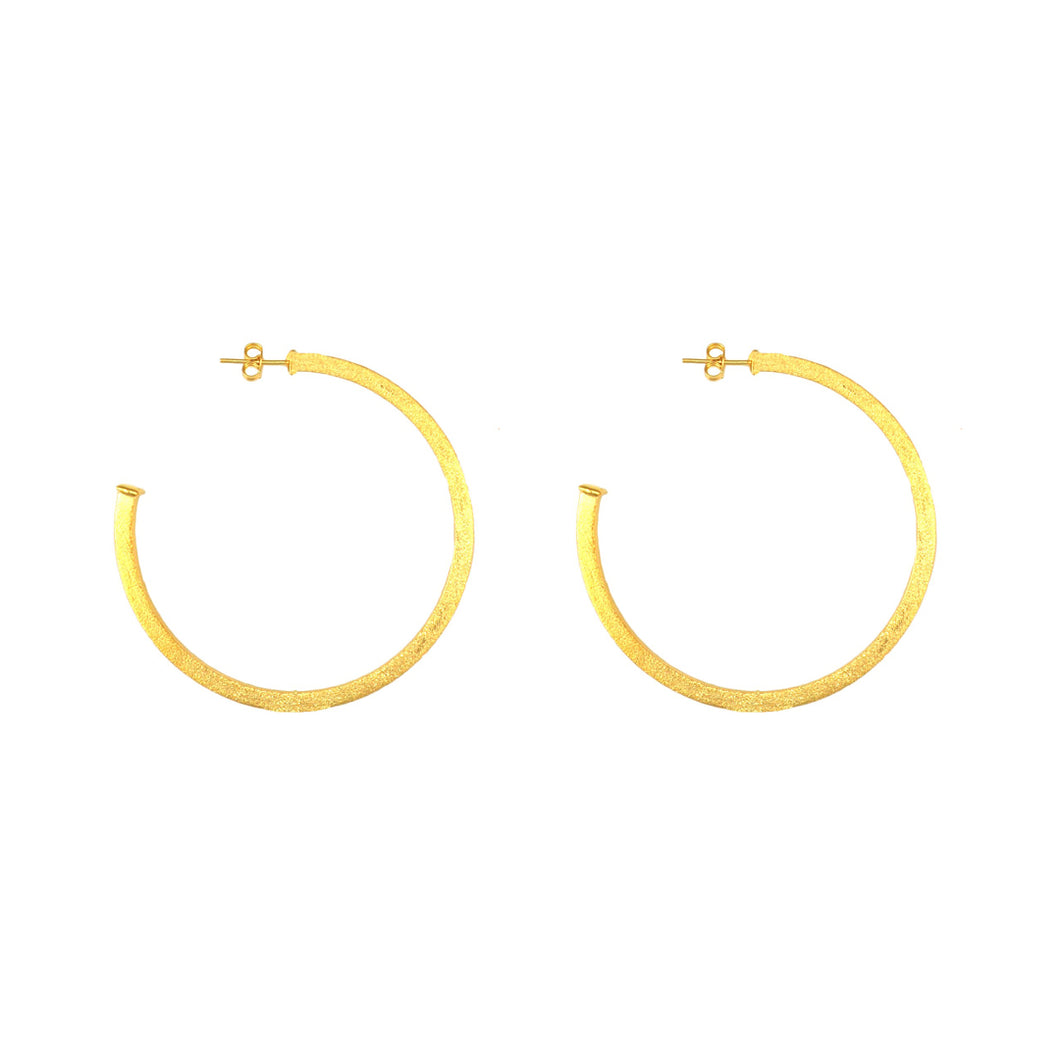 Brazilian 18k plated Gold Hoop