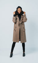 Load image into Gallery viewer, WOOL PLAID COAT