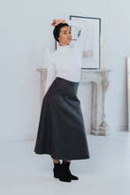 Load image into Gallery viewer, HIGH WAIST WOOL SKIRT