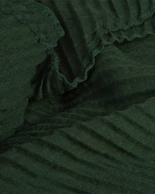 GREEN PLEAT SCARF