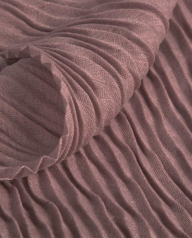 LIGHT PURPLE PLEAT SCARF
