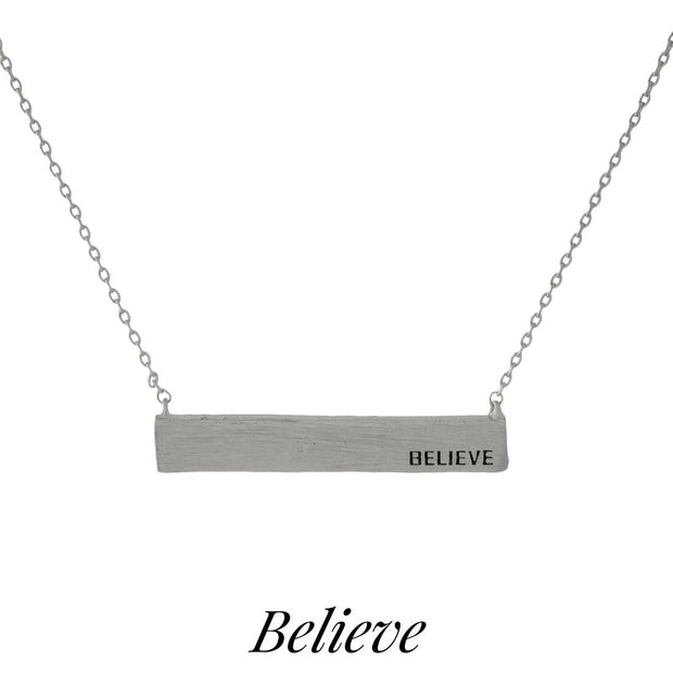 BELIEVE NECKLACE