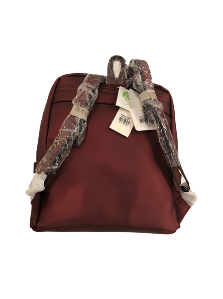 PATTERNED BACKPACK RED