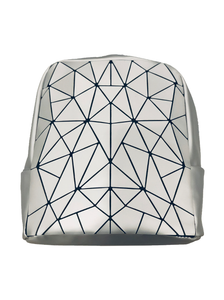 PATTERNED BACKPACK SILVER