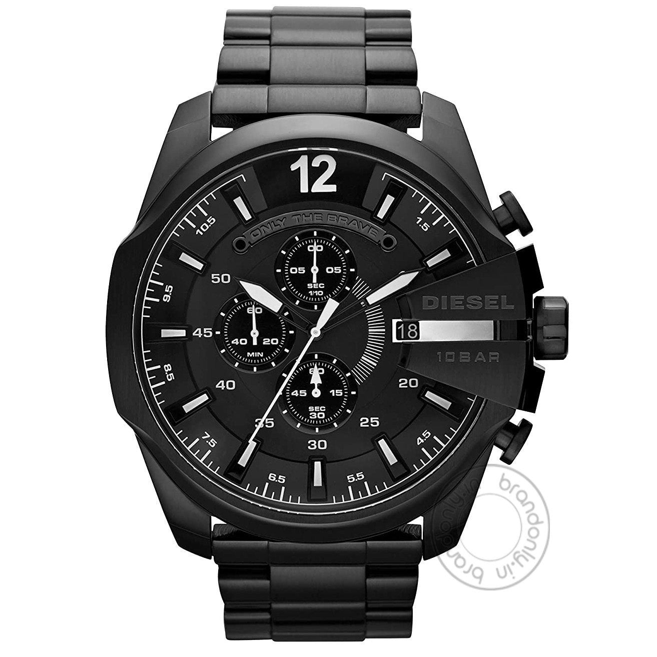 Diesel Mega Chief Chronograph Black Dial Men's Watch For Man   Dz4283 Gift