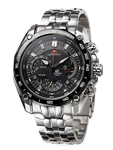 Casio Edifice Chronograph Black Dial Men's Watch Metal Formal Casual Ef 550Rbsp