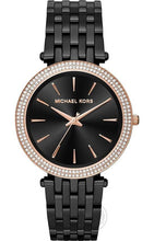 Load image into Gallery viewer, Michael Kors Darci Black Women's Watch For Girl Or Woman Gold Diamond - Mk3407 Best Gift