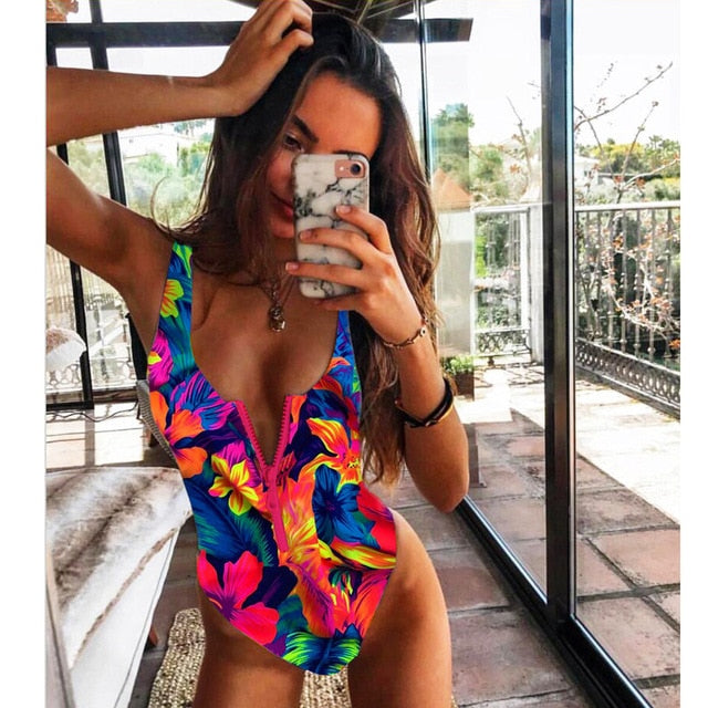 One Piece Swimsuit Monokini Bathing Suit