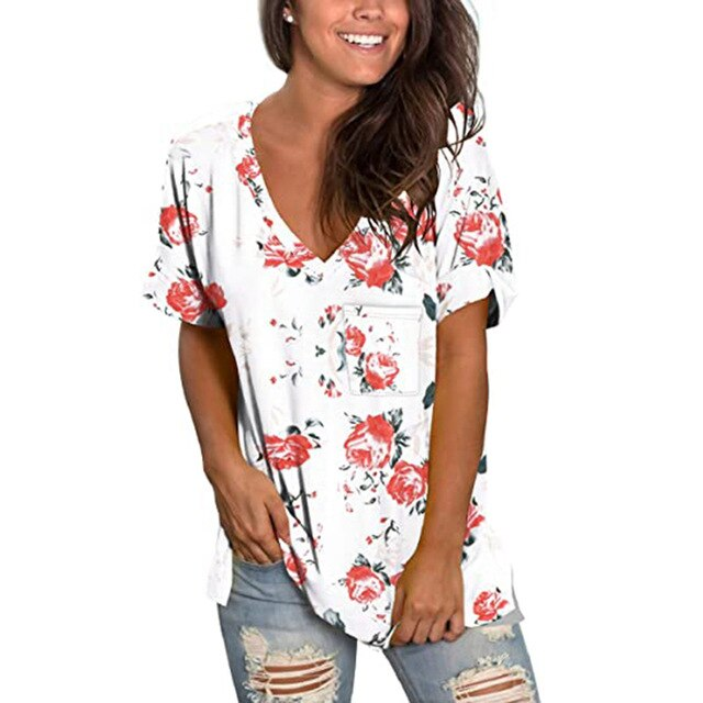 V-Neck Short Sleeve Top
