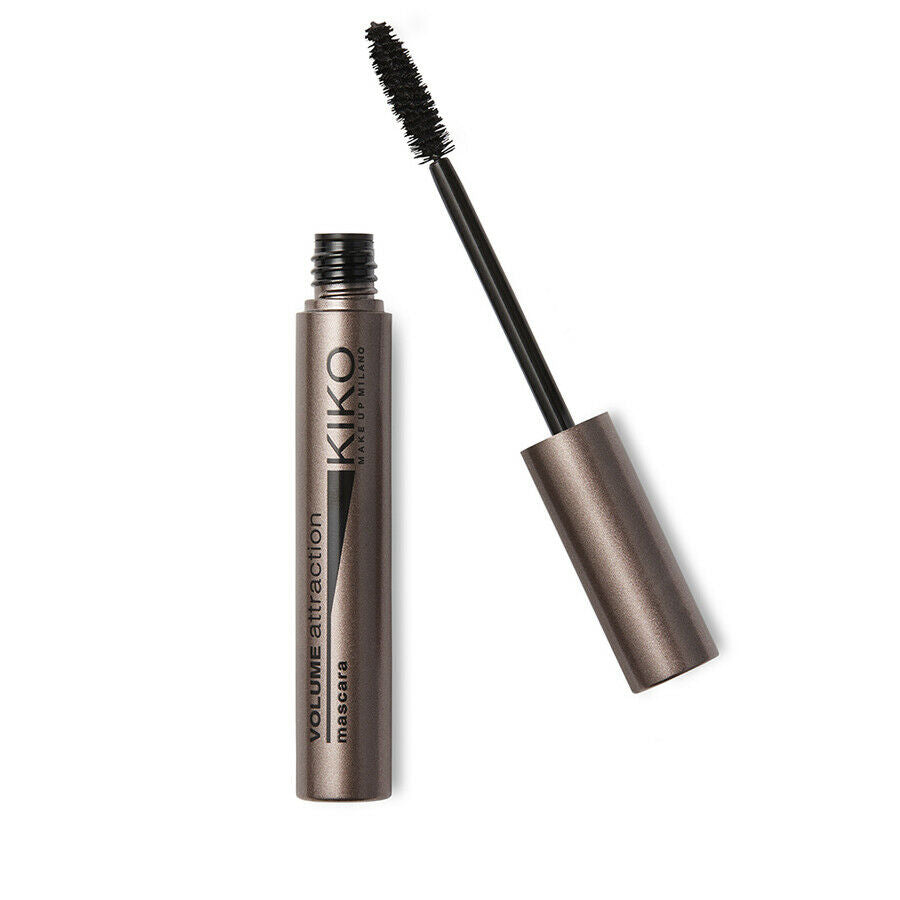 Kiko Milano Volume Attraction Mascara Black  The mascara has a unique formula that gives you perfect, volumized and well-defined lashes  Your lashes are surrounded from the base to the tip from the very first application   The self-forming, polymer waxes create a sheath with an immediate thickness  Contains carbon black, a pigment that is known for its ultra-black tone
