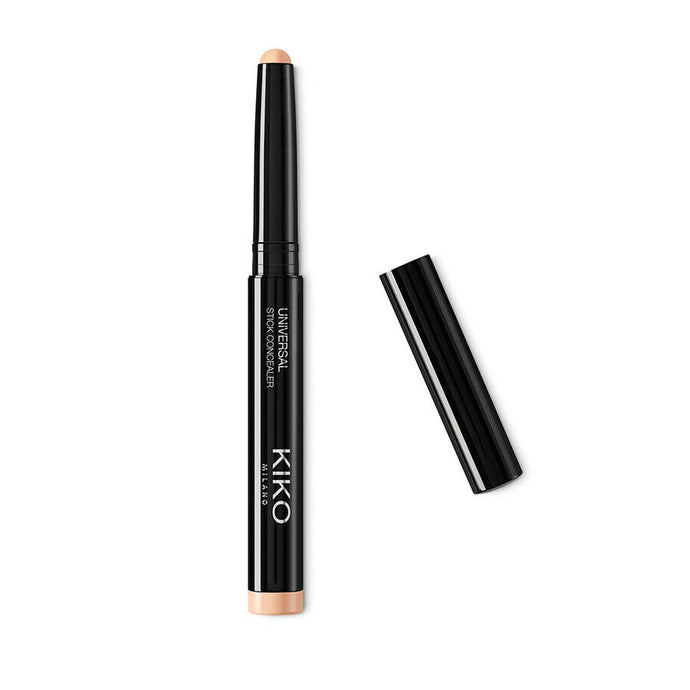 Kiko Milano Universal Consealer Stick 1.6g - 01 Natural Pink A creamy concealer stick for a soft-focus glow that can be easily applied and blended  The natural finish creates lightweight second skin with a medium to high buildable coverage  Enriched with emollient oils to soften the skin   Enriched with microspheres that reflect the light to optically conceal any imperfections  Creates an even and flawless result