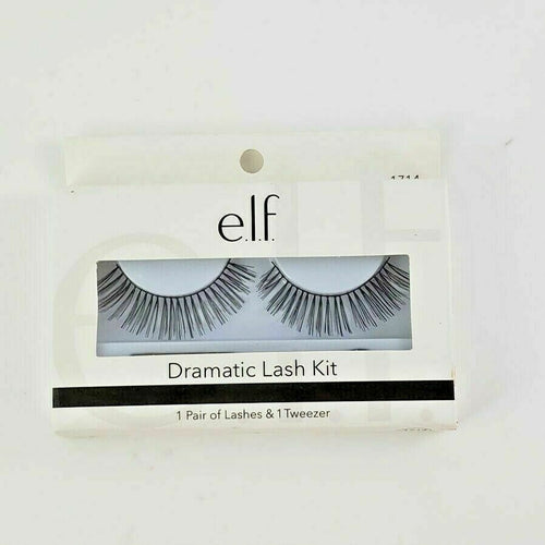 E.L.F Dramatic Lash Kit (Tweezer Included)  Enhance your natural lash line with these beautiful faux lashes  Instantly add depth and definition to lashes  Includes tweezer applicator for easy application
