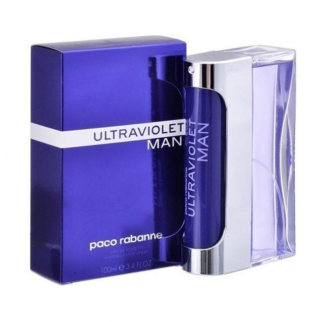 Paco Rabanne Ultraviolet Man Eau de Toilette For Him 100ml Spray An oriental woody fragrance for men.  TOP NOTES: Mint, Amber  HEART NOTES: Vetiver, Pepper, Spicy Notes  BASE NOTES: Oakmoss, Vanilla