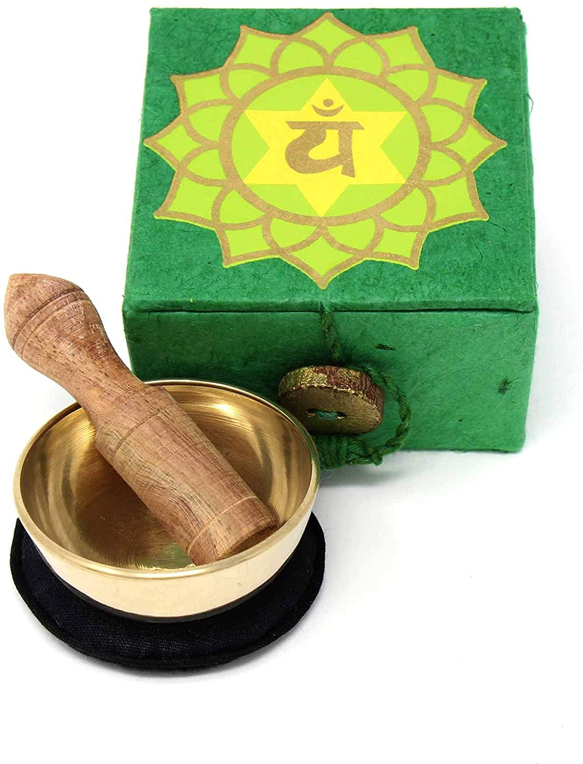 Heart chakra mini meditation singing bowl