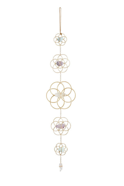 Crystal Grid Flower of Life Wall Décor