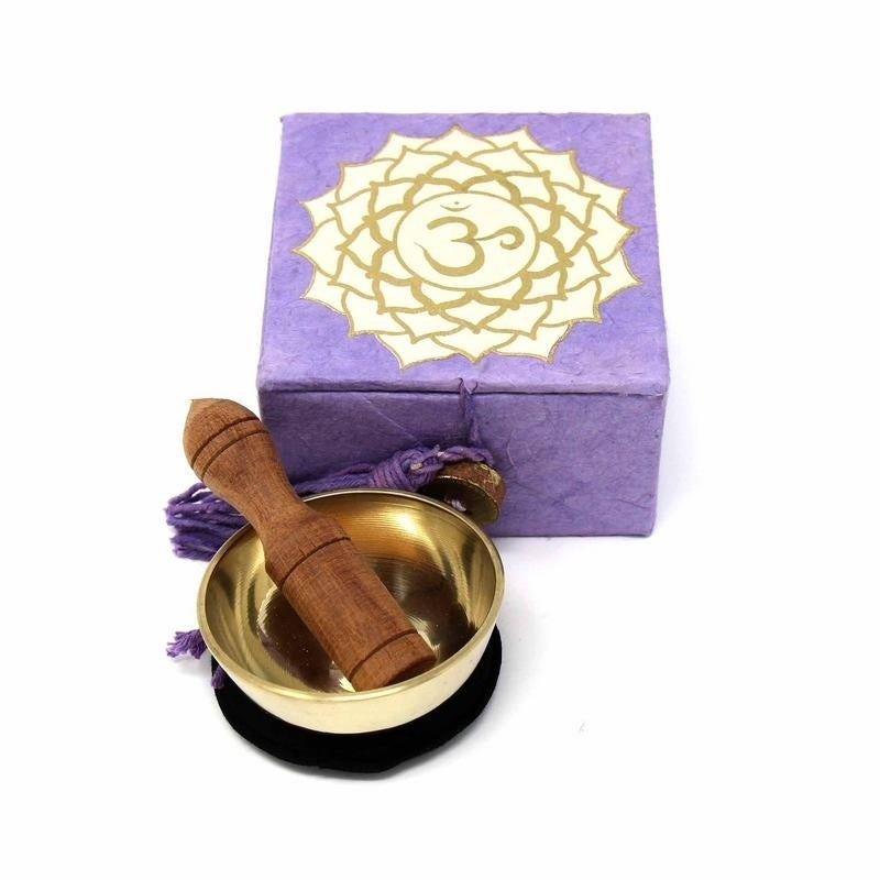 Crown chakra mini meditation singing bowl