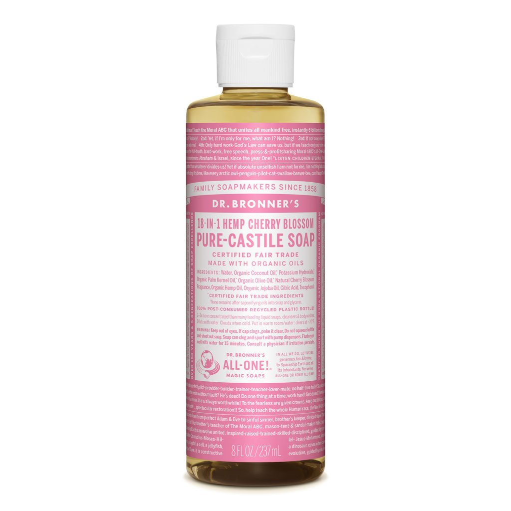 DR. BRONNER'S PURE CASTILE LIQUID SOAP - CHERRY BLOSSOM
