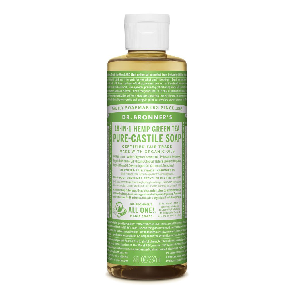 DR. BRONNER'S PURE CASTILE LIQUID SOAP - GREEN TEA