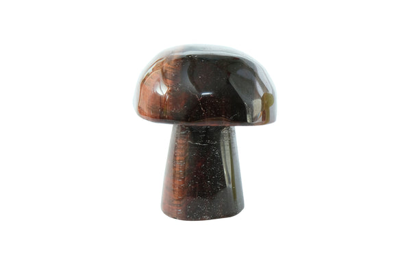 Red Tiger Eye Crystal Mushroom