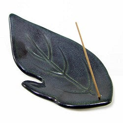 SHOYEIDO OBISIDAN LEAF INCENSE HOLDER