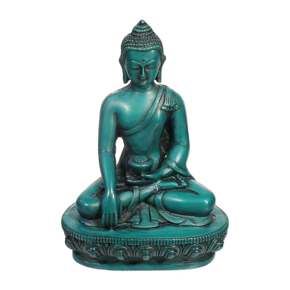 Buddha Turquoise Resin Statue