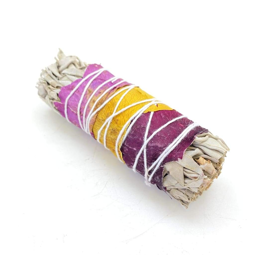 CALIFORNIAN WILD WHITE SAGE + ROSE PETALS - SMALL